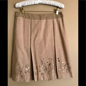 Loft camel-colored wool skirt size 6